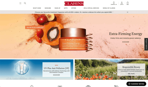 Clarins Screenshot