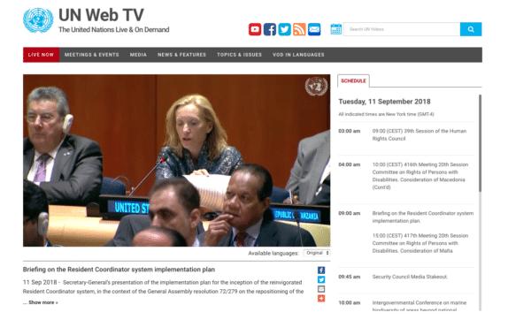 UN Live stream