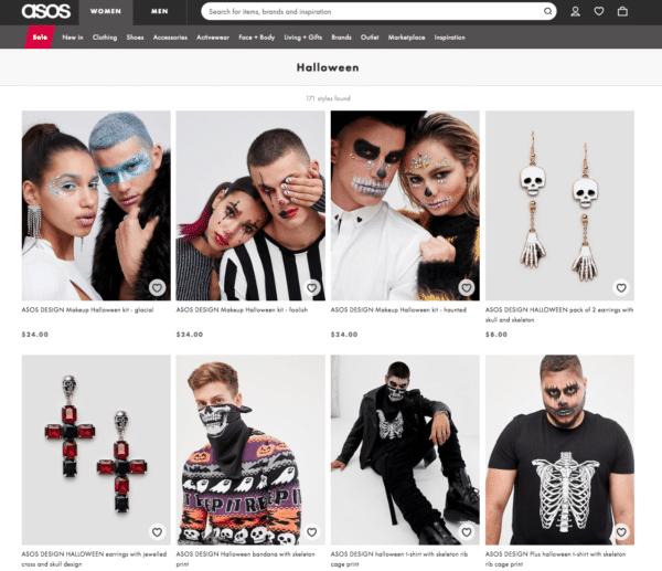 Halloween Ecommerce Sites