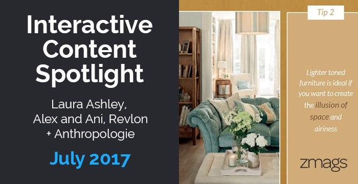 Interactive Content Spotlight: Laura Ashley, Anthropologie, Revlon