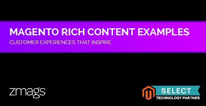 Rich Magento Content Examples: Murad, Tibi, and More